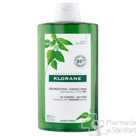 KLORANE SHAMPOING ORTIE cheveux gras BIO 400ML