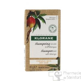 KLORANE SHAMPOING SOLIDE MANGUE cheveux secs 80G