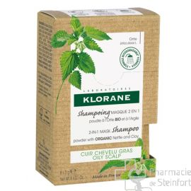 KLORANE SHAMPOING MASQUE 2EN1 ORTIE BIO + ARGILE 8X3G