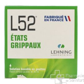 L52 ÉTATS GRIPPAUX LEHNING 30 ML