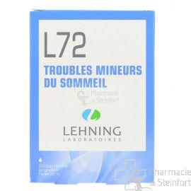 L72 TROUBLES MINEURS DU SOMMEIL LEHNING 30 ML