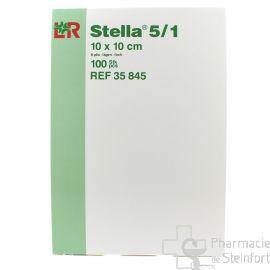 STELLA COMPRESSES DE GAZ 8 PLIES 5/1 10x10 CM A 100 PIECES
