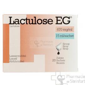 LACTULOSE EG 670 MG/ML 20 SACHETS 15 ML
