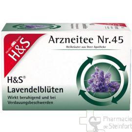 H+S Lavendelblüten TEE 20 SACHETS N°45