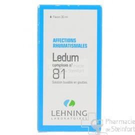 LEDUM AFFECTIONS RHUMATISMALES COMPLEXE 81 LEHNING GOUTTES 30 ML