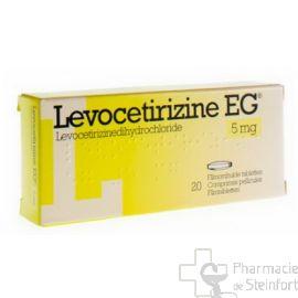 LEVOCETIRIZINE EG 5 MG 20 COMPRIMES