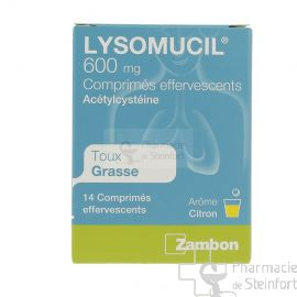 LYSOMUCIL 600 MG 14 COMPRIMES EFFERVESCENTS