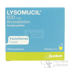 LYSOMUCIL 600 MG 30 COMPRIMES EFFERVESCENTS