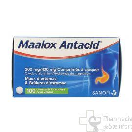 MAALOX ANTACID 200/400 MG 100 COMPRIMES