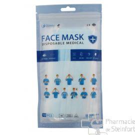 MASQUES CHIRURGICAUX type 2 CERTIFIE  10 masques (DENTALBEL)