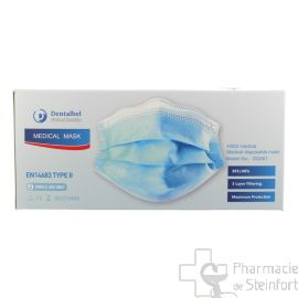 Masques chirurgicaux Certifiés protection 3 couches 50 masques