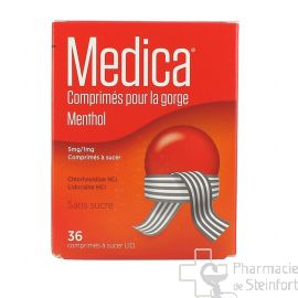 MEDICA MENTHOL GORGE 36 COMPRIMES A SUCER