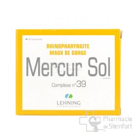 MERCUR SOL  RHINOPHARINGITES MAUX DE GORGE COMPLEXE 39 LEHNING 60 COMPRIMES