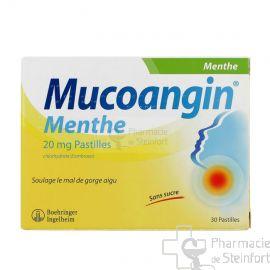 MUCOANGIN MENTHE 20 MG 30 PASTILLES