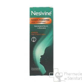 NESIVINE NASIVIN PEDIATRIE Sine Conservans Spray 0,025% 10ML