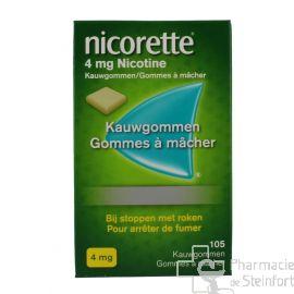 NICORETTE 4 MG 105 GOMMES