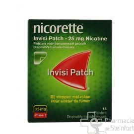 NICORETTE INVISIBLE 25 MG 14 PATCH