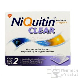 NIQUITIN CLEAR 14 MG 21 PATCH