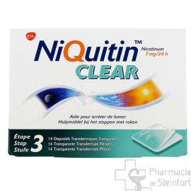 NIQUITIN CLEAR 7 MG 14 PATCH