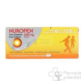 NUROFEN ENFANT 200 MG 24 COMPRIMES