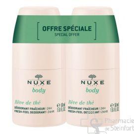 NUXE DUO REVE DE THE DEO FRAICHEUR 24H 2X50M