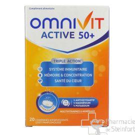 OMNIVIT ACTIVE 50+ FIZZ 20 Comprimés effervescents