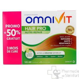 OMNIVIT HAIR PRO NUTRI REPAIR 120+60 COMPRIMES