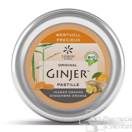 GINJER ORIGINAL PASTILLES BIO Orange Gingembre 40 G