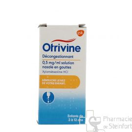 OTRIVINE 0,5 MG/ML GOUTTES NASALES Enfant 10 ML