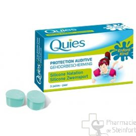 QUIES PROTECTION AUDITIVE EN SILICONE SPECIALE ENFANT 3 PAIRES