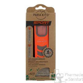 PARAKITO bracelet anti-moustiques sport ORANGE
