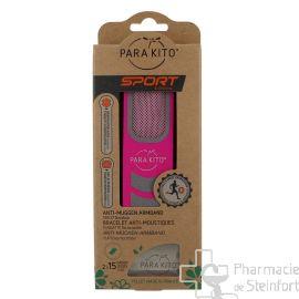 PARAKITO bracelet anti-moustiques sport ROSE