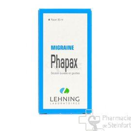 PHAPAX  MIGRAINE LEHNING GOUTTES 30 ML