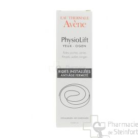 AVENE PHYSIOLIFT CONTOUR YEUX RIDES, POCHES ,CERNES RIDES INSTALLEES ANTI AGE 15 ML