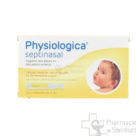 PHYSIOLOGICA SEPTINASAL 0.9 % NACL  20 AMPOULES 5 ML