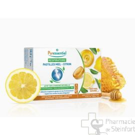 PURESSENTIEL RESPIRATOIRE Pastilles Miel-Citron 18 PASTILLES