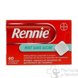 RENNIE SANS SUCRE MENTHE 60 PASTILLES