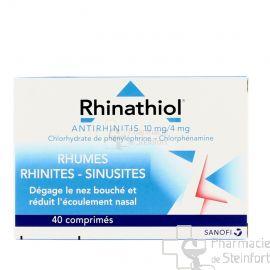 RHINATHIOL ANTIRHINITIS 40 COMPRIMES