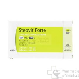 STEOVIT FORTE CITRON 1000MG/800U 28 COMPRIMES