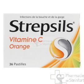 STREPSILS VIT C ORANGE 36 PASTILLES