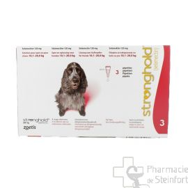 STRONGHOLD 120 MG 3 PIPETTES CHIEN 10,1-20 KG