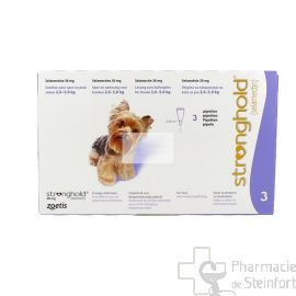 STRONGHOLD 30 MG 3 PIPETTES CHIEN 2,6-5,1 KG
