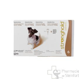 STRONGHOLD 60 MG 6 PIPETTES CHIEN 5,2-10 KG