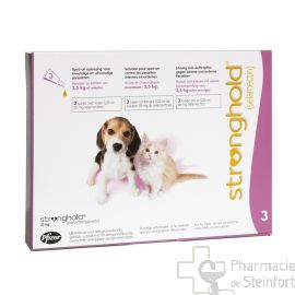 STRONGHOLD 15 MG 3 PIPETTES CHAT/CHIEN