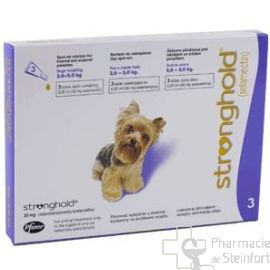 STRONGHOLD 30 MG 6 PIPETTES CHIEN 2,6-5,1 KG