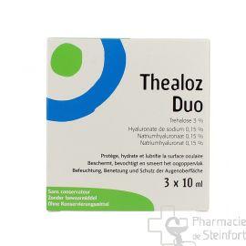 THEALOZ DUO TRIPACK COLLYRE 3x 10 ML