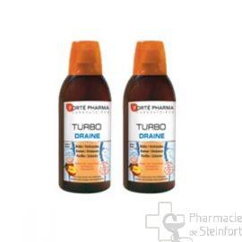 TURBODRAINE PECHE-THE VERT OFFRE DUO 2X500 ML