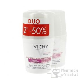 VICHY DEO  Beauty anti transpirant anti repousse BILLE DUO 2x roll on2E-50%