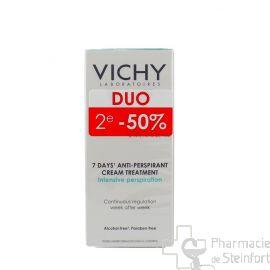 VICHY TRAITEMENT ANTI-TRANSPIRANT 7JRS - CRÈME DUO 2x30 ML