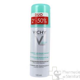 VICHY DEO Aérosol anti-transpirant 48h. DUO 2x 125ml